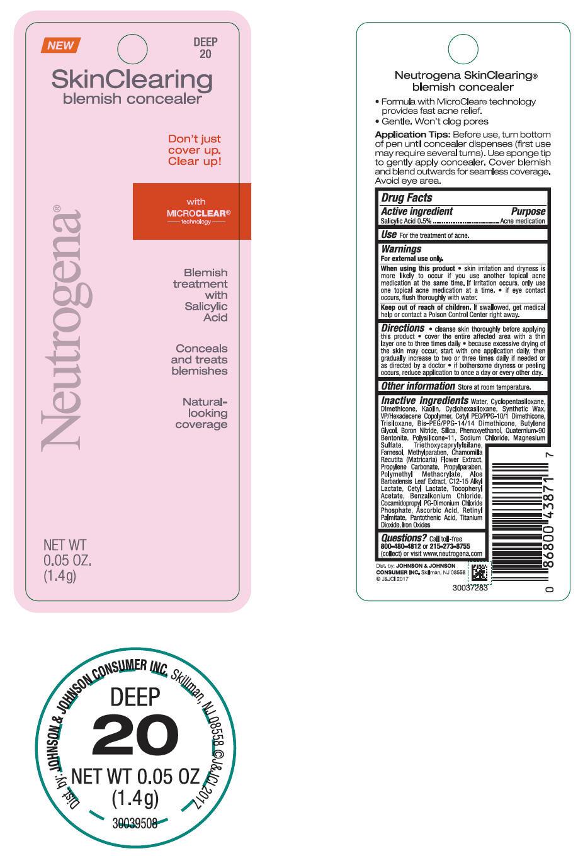 Salicylic Acid - Skin Clearing Blemish Concealer - Deep 20 (Neutrogena)
