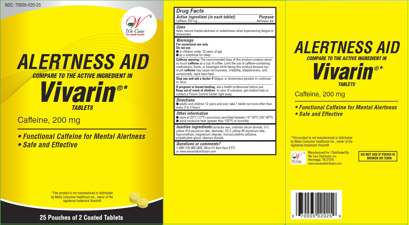 Caffeine Tablets, 200 mg (ALERTNESS AID)