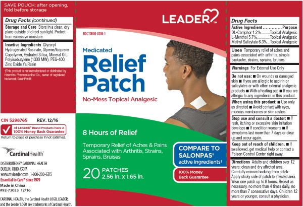 CAMPHOR (SYNTHETIC) LEVOMENTHOL SALICYLIC ACID (Leader Medicated Relief Patch)