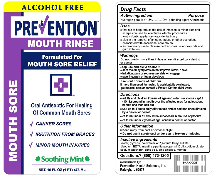 Hydrogen peroxide (Prevention Mouth Rinse)