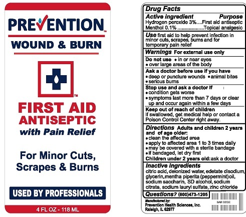 Hydrogen peroxide, Menthol (Prevention Wound and Burn)