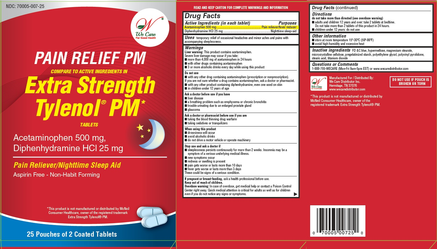 Acetaminophen and Diphenhydramine Hydrochloride (Pain Relief PM)