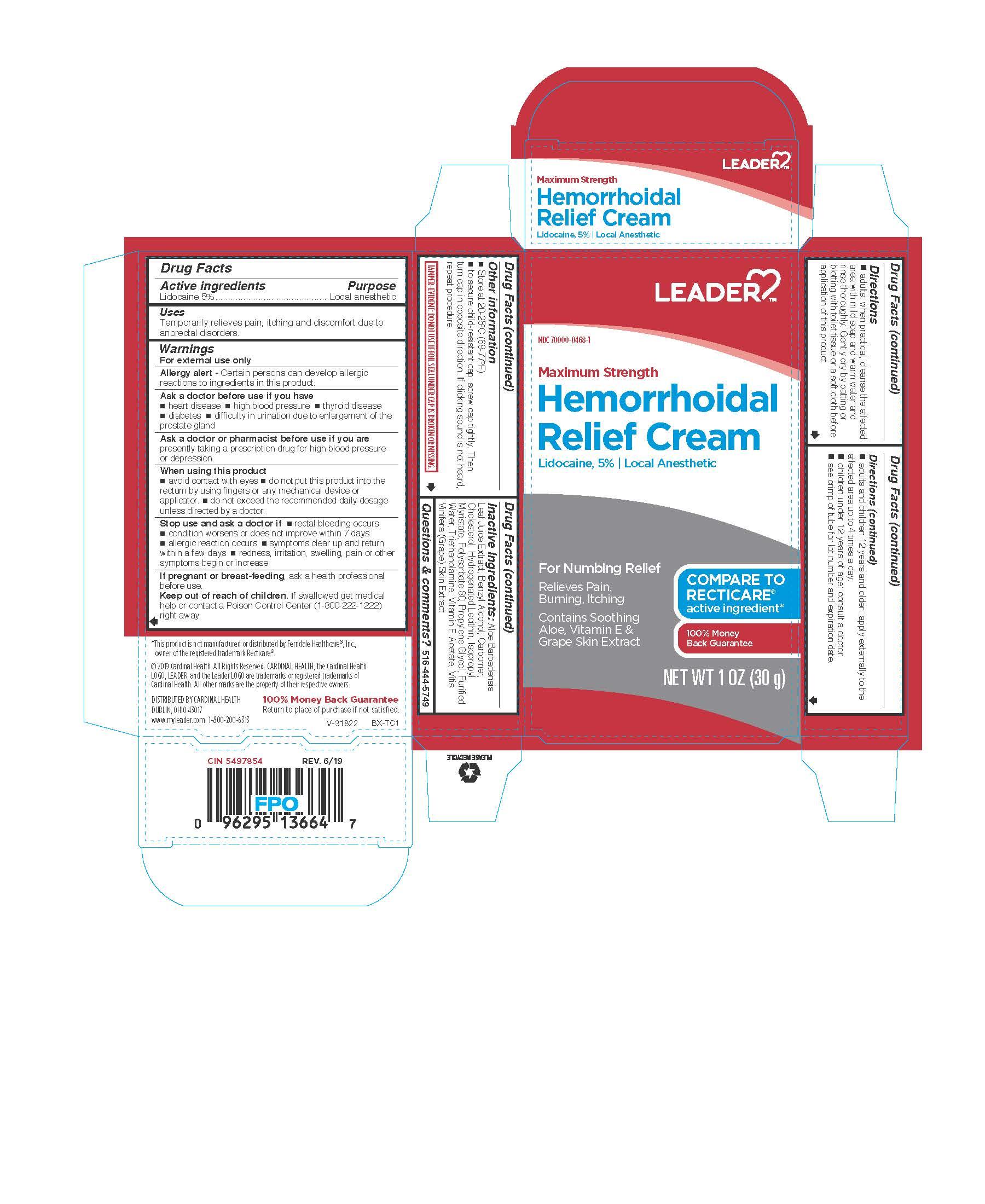 Lidocaine (Hemorrhoidal Relief Cream)