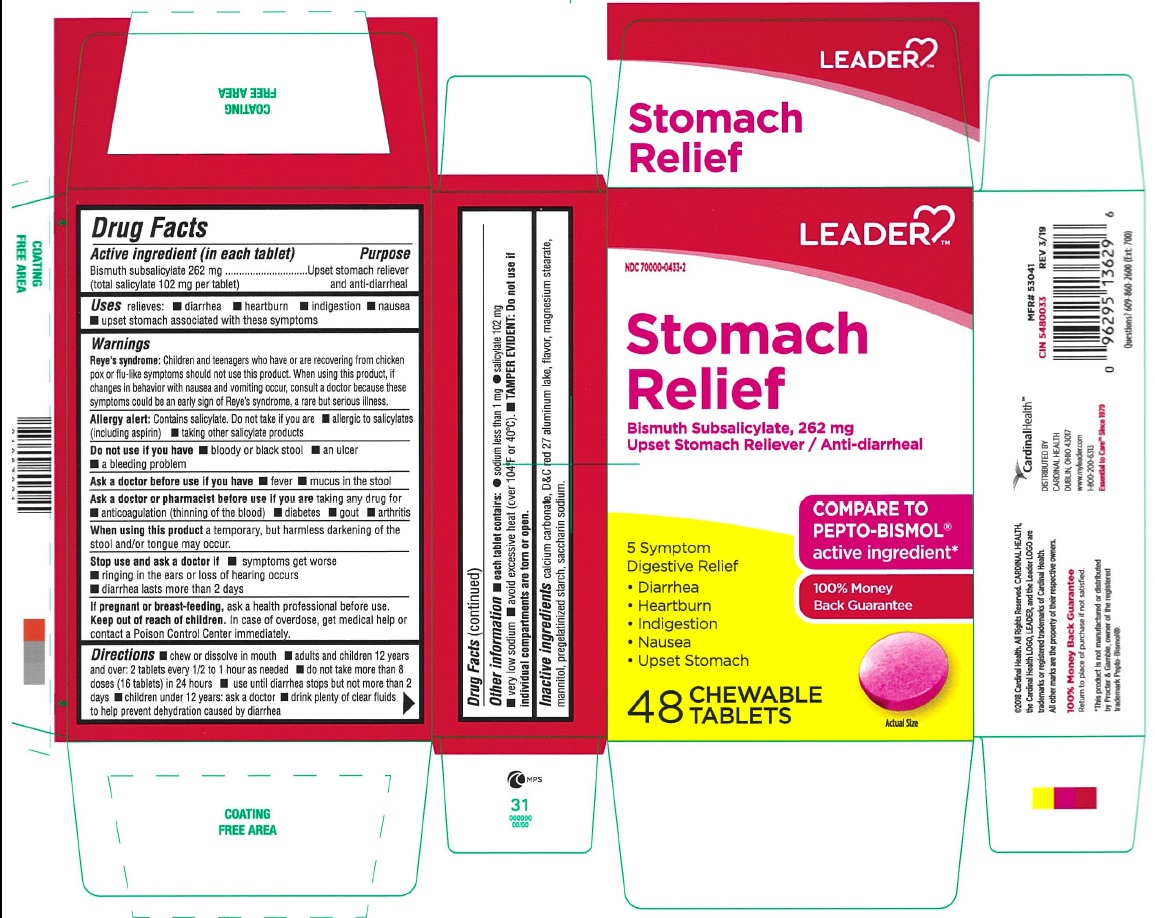 Bismuth subsalicylate (Leader Stomach Relief)