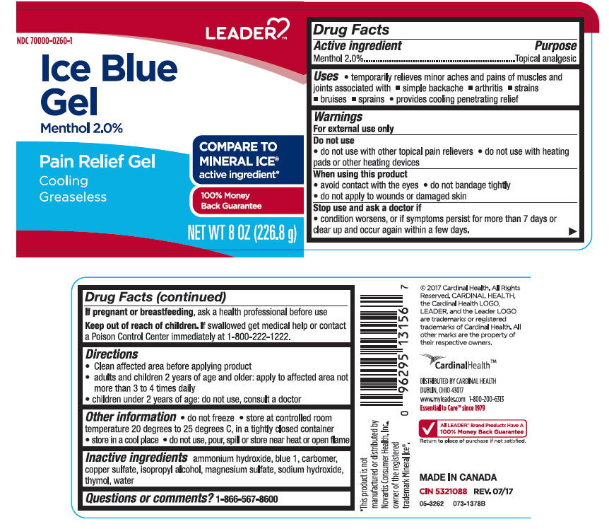 Menthol, Unspecified Form - Analgesic (Leader Ice Blue)