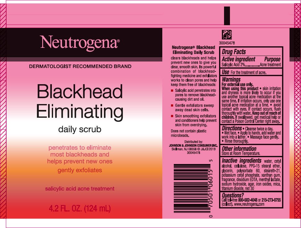 Salicylic Acid (Neutrogena Blackhead Eliminating Daily Scrub)