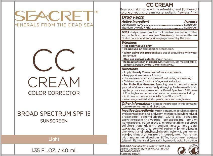 OCTINOXATE, TITANIUM DIOXIDE - CC Cream Color Corrector (Seacret)