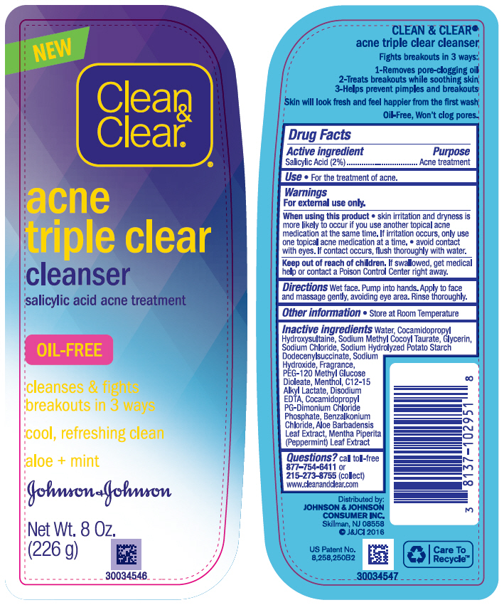Salicylic Acid (Clean and Clear acne triple clear cleanser)