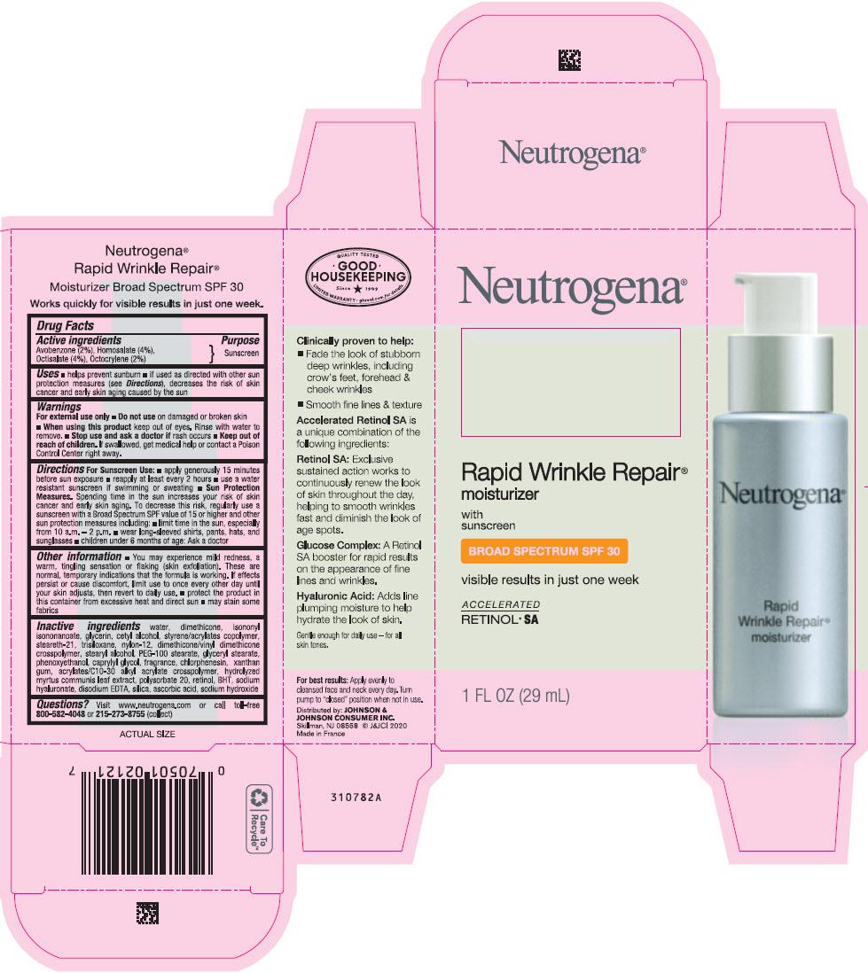 Avobenzone, Homosalate, Octisalate, and Octocrylene - Sunscreen Broad Spectrum SPF30 (Neutrogena Rapid Wrinkle Repair Moisturizer)