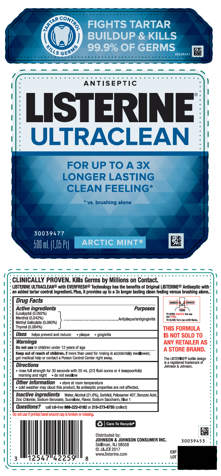 Eucalyptol, Menthol, Unspecified Form, Methyl Salicylate, and Thymol (Listerine Ultraclean Arctic Mint)