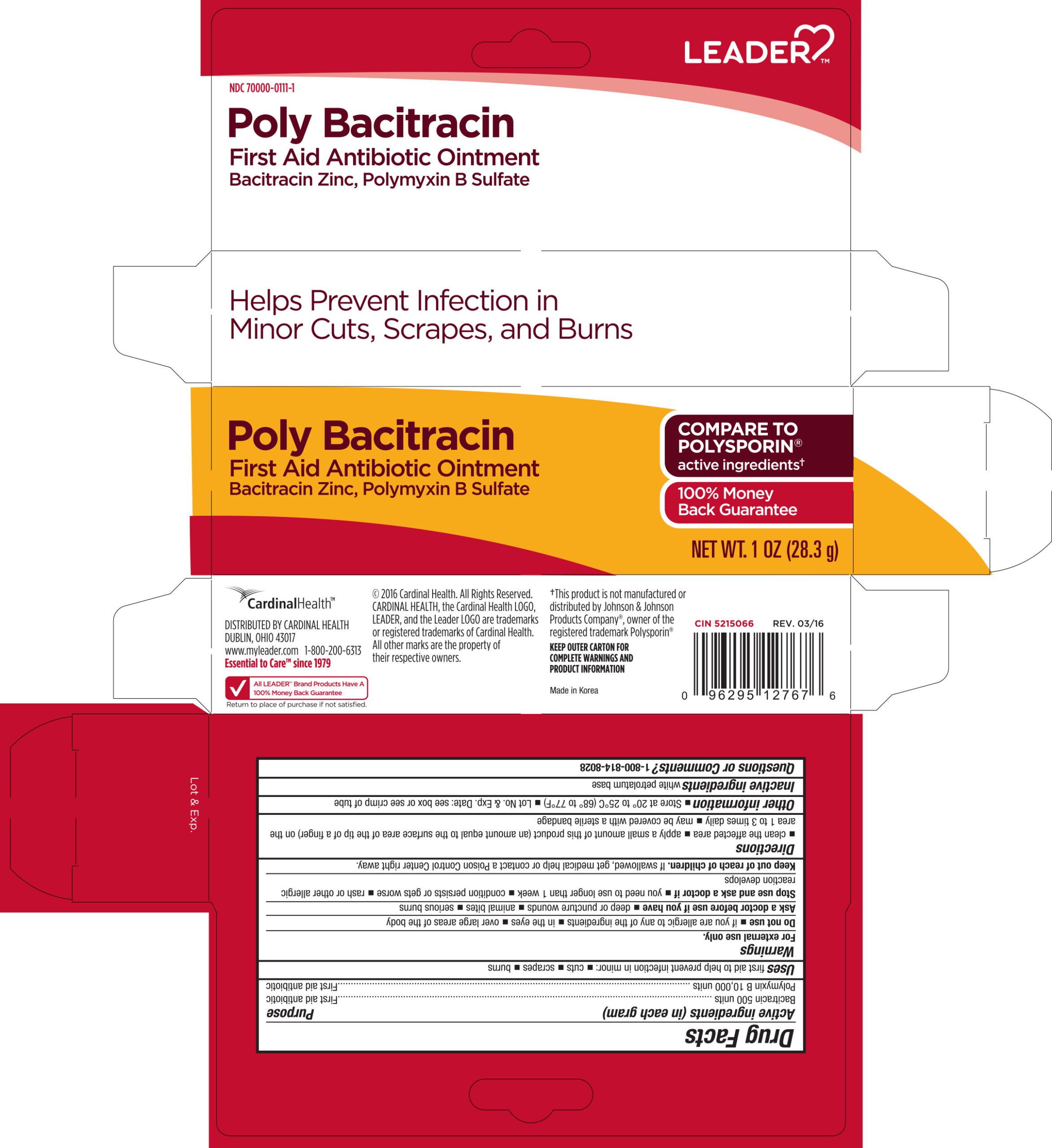 Bacitracin Zinc, and Polymyxin B Sulfate (Leader First Aid Antibiotic)