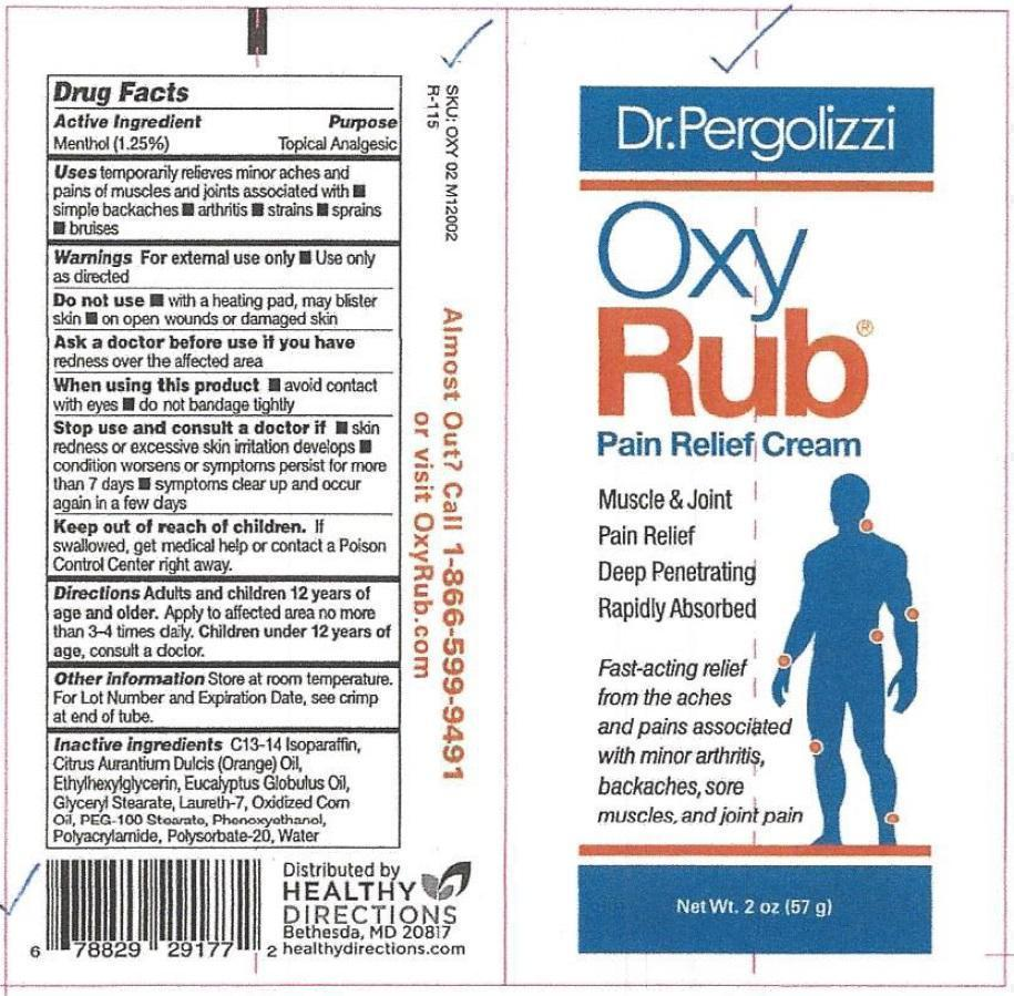 MENTHOL (Oxy Rub Pain Relief)