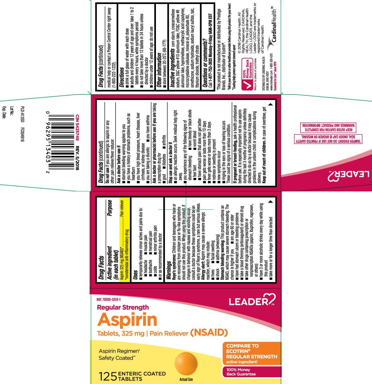 Aspirin - regular strength (Aspirin)