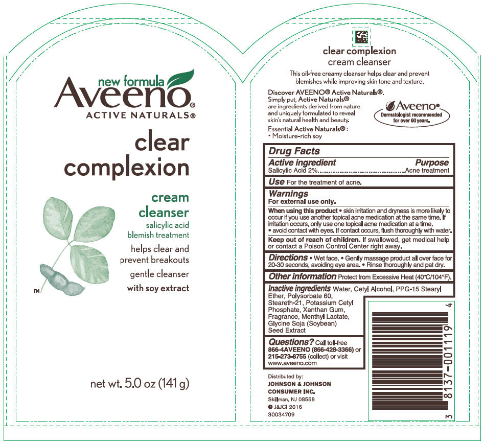 Salicylic Acid (Aveeno Active naturals Clear Complexion Cleanser)