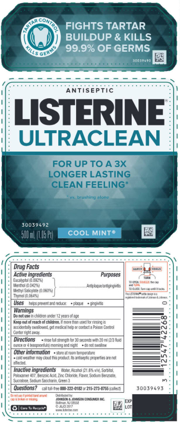 Eucalyptol, Menthol, unspecified form, Methyl Salicylate, and Thymol - Cool Mint (Listerine Ultraclean Antiseptic)