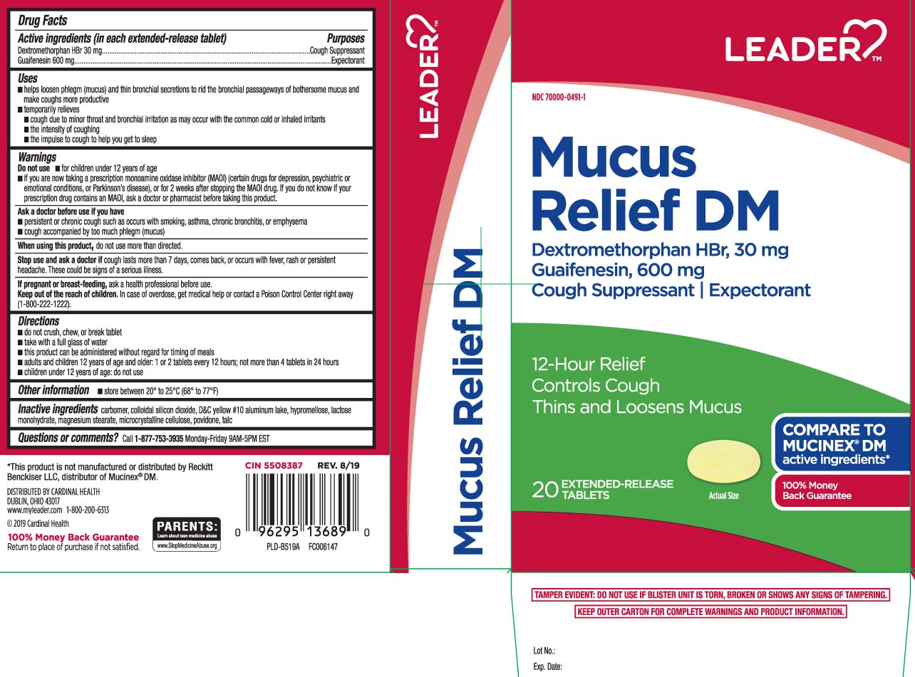Guaifenesin, Dextromethorphan HBr (Mucus Relief DM)