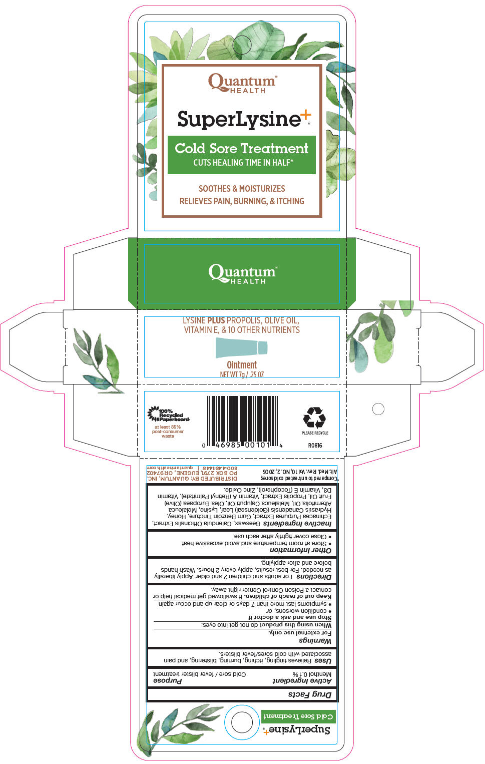 Menthol, Unspecified Form (Super Lysine plus)