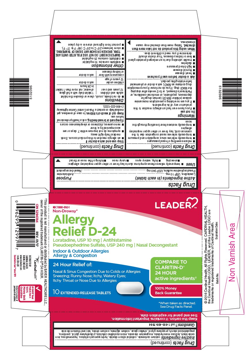 Loratadine and Pseudoephedrine Sulfate (Leader Allergy Relief D-24)