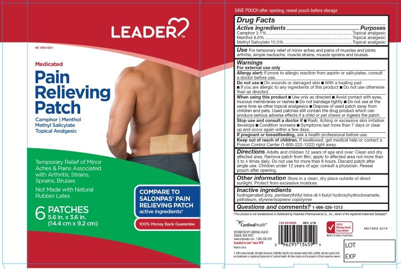 CAMPHOR, MENTHOL, METHYL SALICYLATE (Pain Relief Patches)