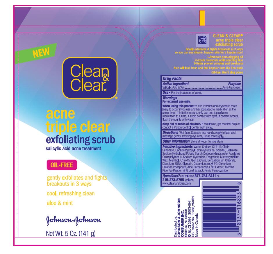 Salicylic Acid (Clean and Clear acne triple clear exfoliating scrub)